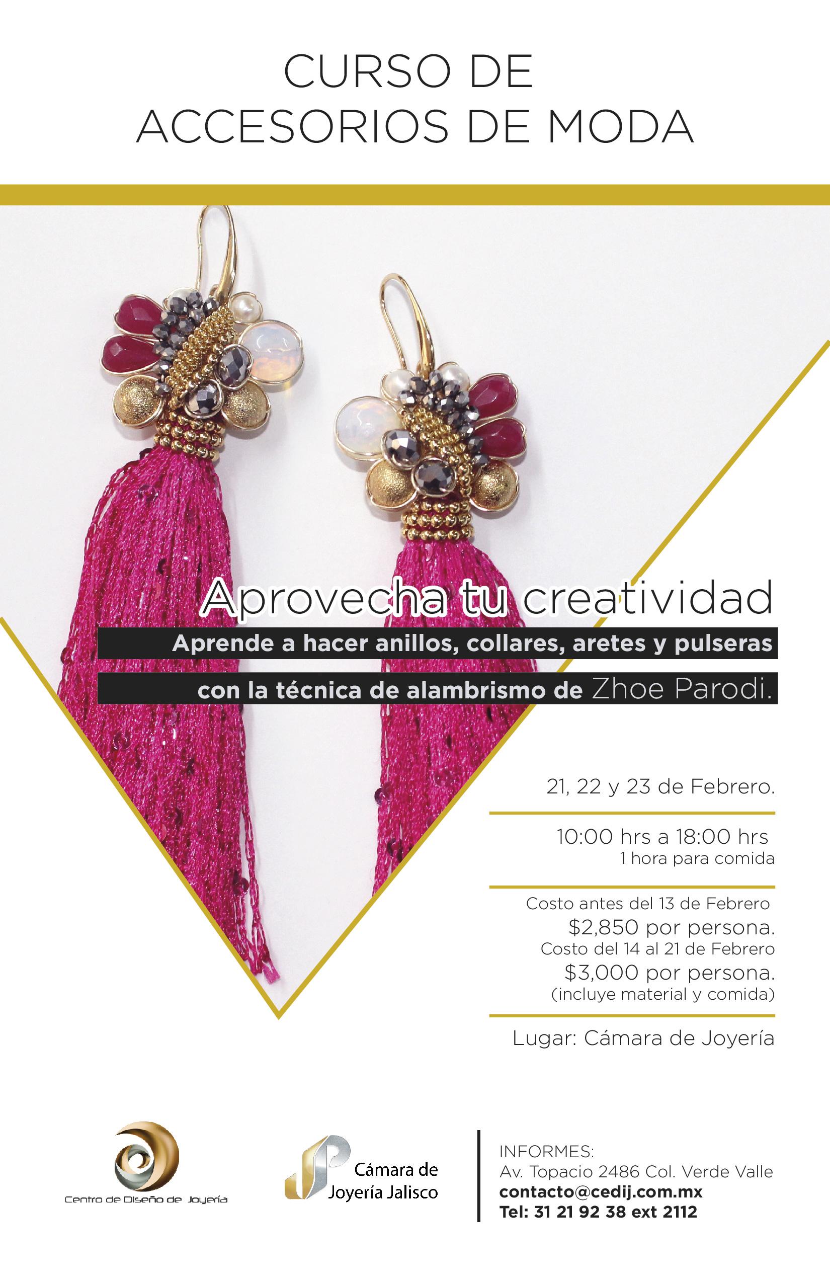 42972f50fea Curso de Accesorios de moda | CEDIJ